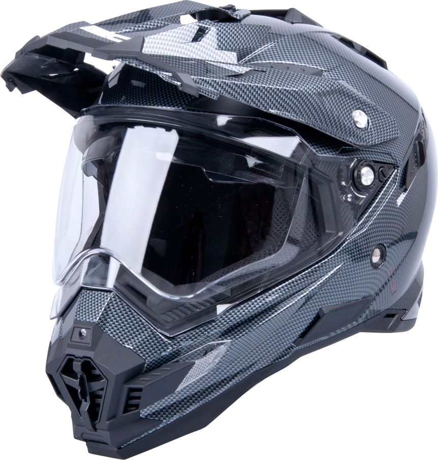 W-TEC Kask motocyklowy AP-885 carbon look r. XL 61-62 (9932-XL) 9932-XL