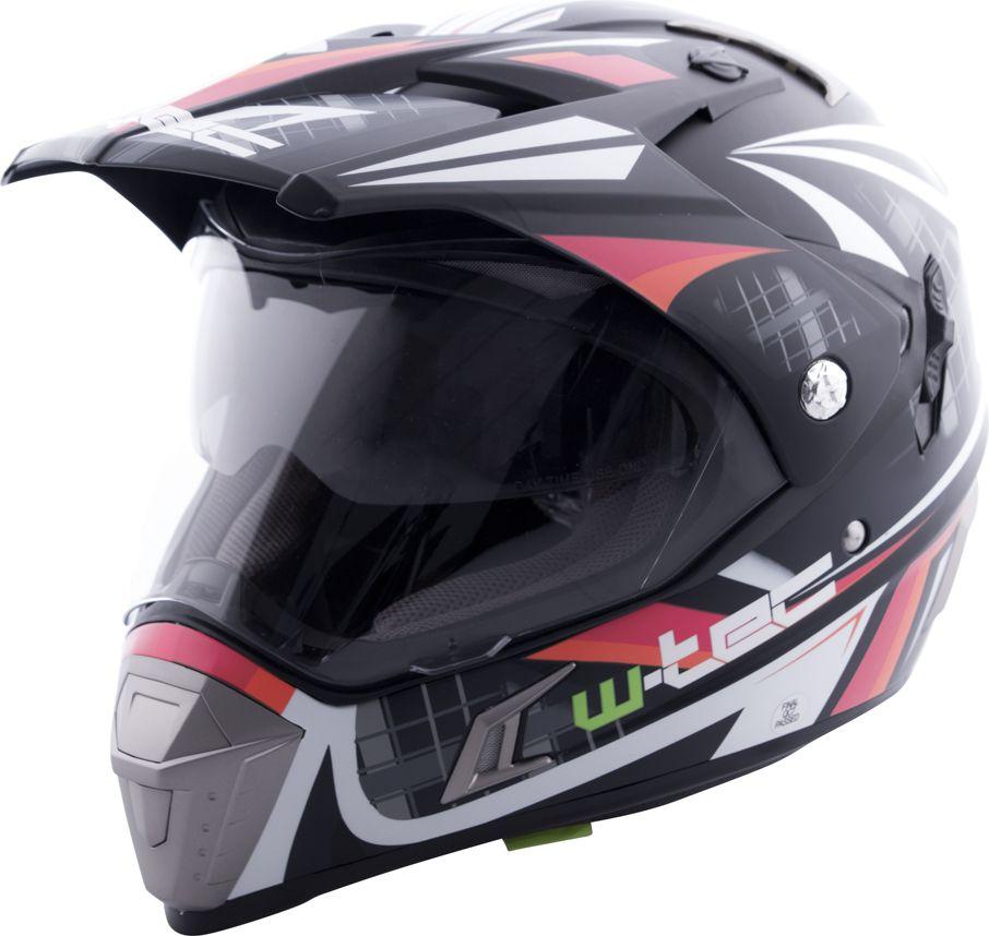 W-TEC Kask motocyklowy NK-311 czarny/pomaranczowy r. XXL 63-64 (5101-8XXL) 5101-8XXL