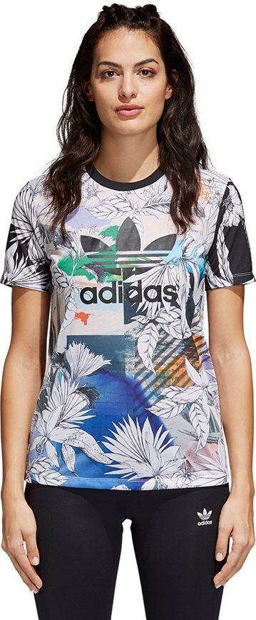 Adidas Koszulka damska Shirt Treofil Passinho bialo-niebieska XS (CY7370) CY7370