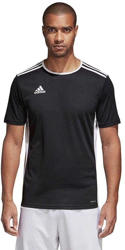 Adidas Koszulka pilkarska Entrada 18 JSY czarna r. M  (CF1035) CF1035