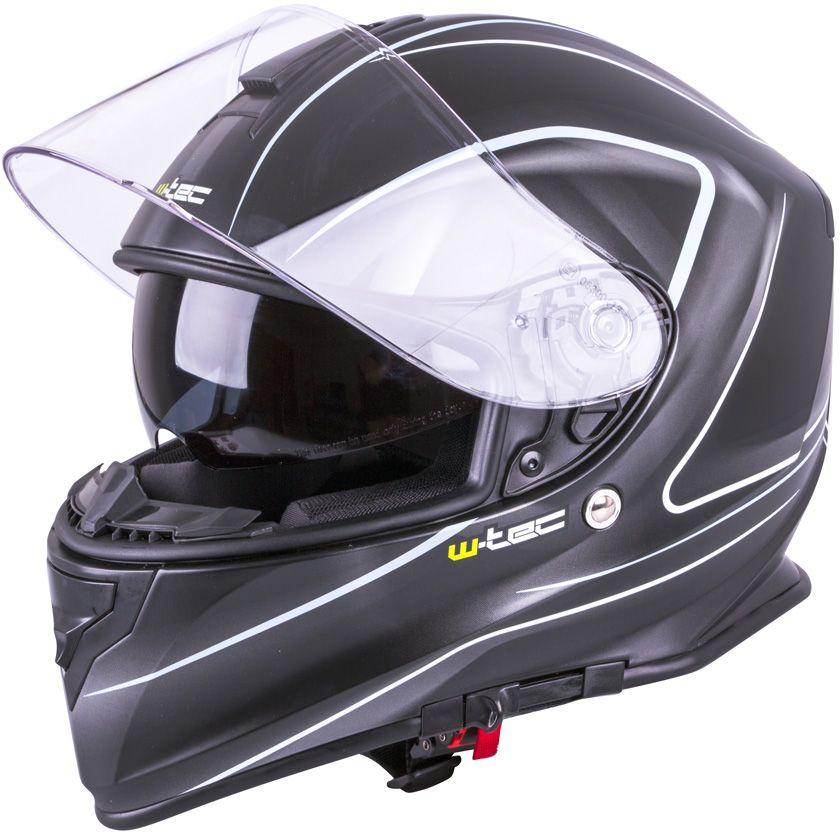 W-TEC Kask motocyklowy W-TEC V127 Kolor matt.czarny, Rozmiar L(59-60) - 9623-L 9623-L