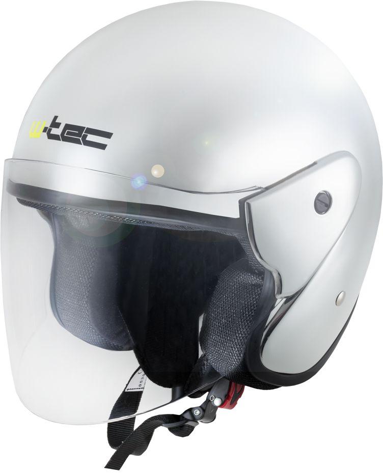 W-TEC Kask motocyklowy otwarty AP-74 srebrny chrom r. XS (53-54) (13578) 13578-XS
