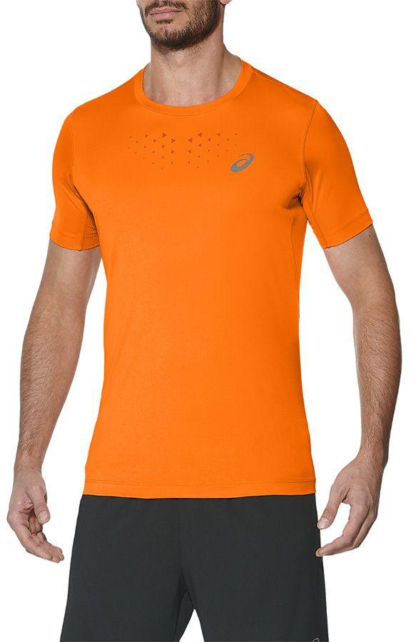 Asics Koszulka meska do biegania Stride SS Top pomaranczowa r. S  (141198 0524) 141198 0524