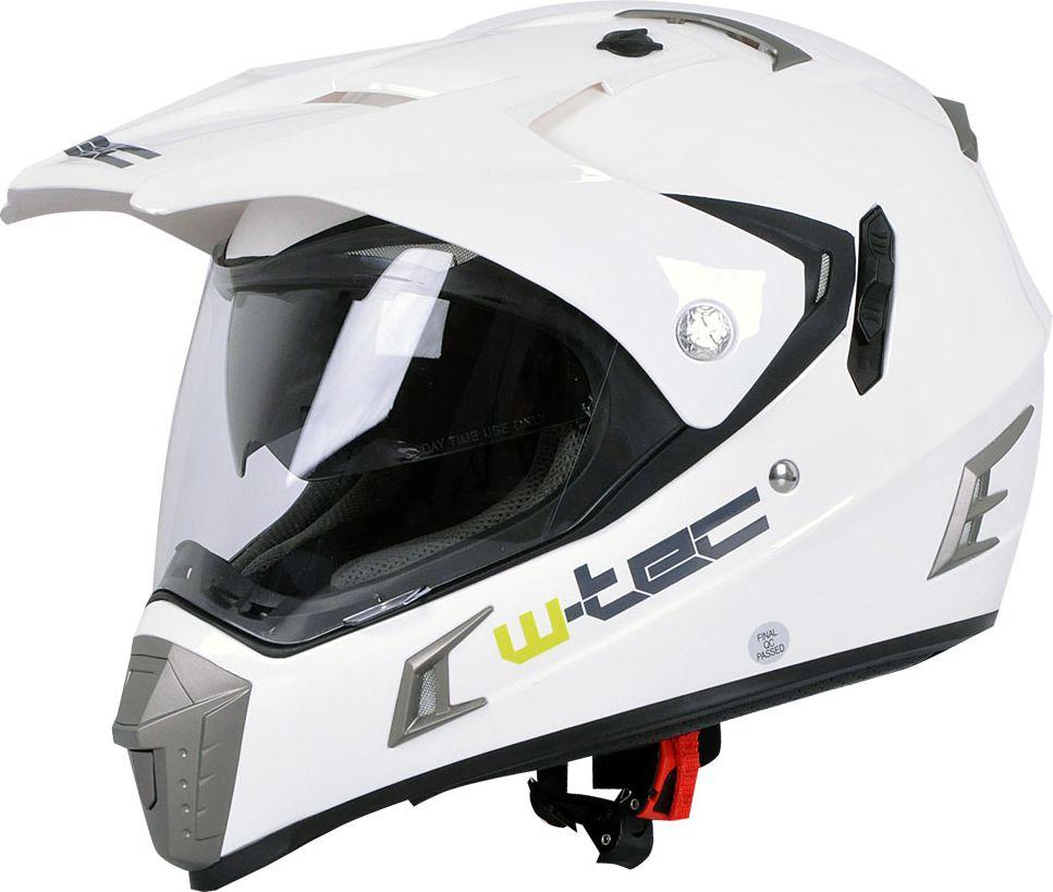 W-TEC Kask motocyklowy NK-311 bialy blyszczacy r. XL 61-62 (5101-6XL) 5101-6XL