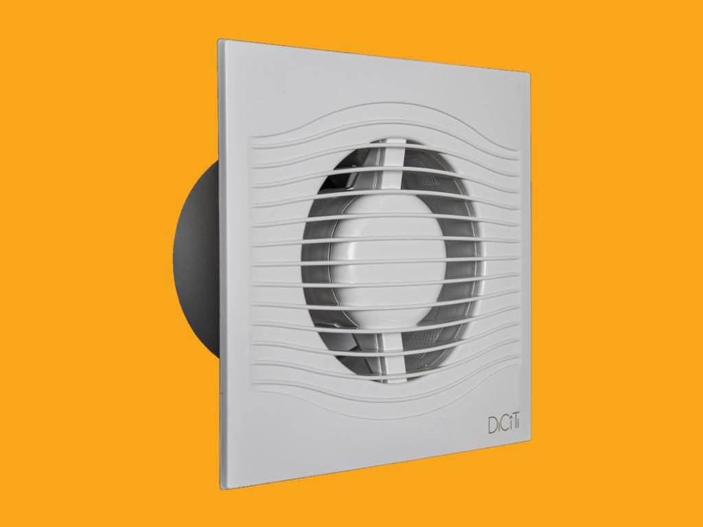 PRZYBYSZ Fan with Slim 4C MR 90m3 / h time processor with white 100mm check valve (5SL)