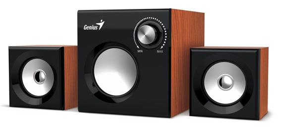 Genius Speakers SW-2.1 370, Wood datoru skaļruņi