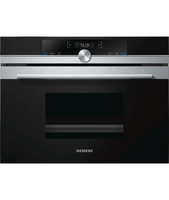 SIEMENS CD634GBS1 Built in Oven, Black, Stainless ste, Unspecified, Touch, Height 45.5 cm, Width 59.5 cm, Integrated timer Cepeškrāsns