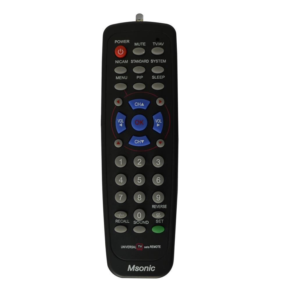Msonic MBC415K Universāla tālvadības TV pults, gb. 4718308118025 pults
