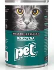 DE HAAN DIERENVOEDING PET 410g KOT PUSZKA DZIK 19927 kaķu barība