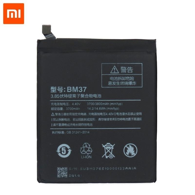 Xiaomi BM37 Oriģināla Baterija Mobilajam Telefonam Mi 5s / 3800 mAh (OEM) akumulators, baterija mobilajam telefonam