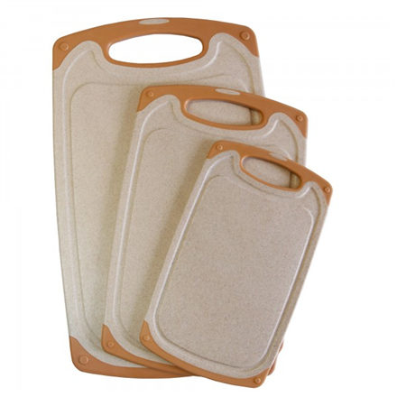 Stoneline Back to Nature  18336 Cutting board set 3pc, Beige Virtuves piederumi