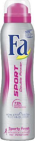 Fa Sport Double Power Sporty Fresh Dezodorant w sprayu 150ml 68738101