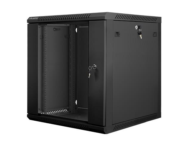 Wall-Mounted Rack 19''   12U 600X600mm black Serveru aksesuāri