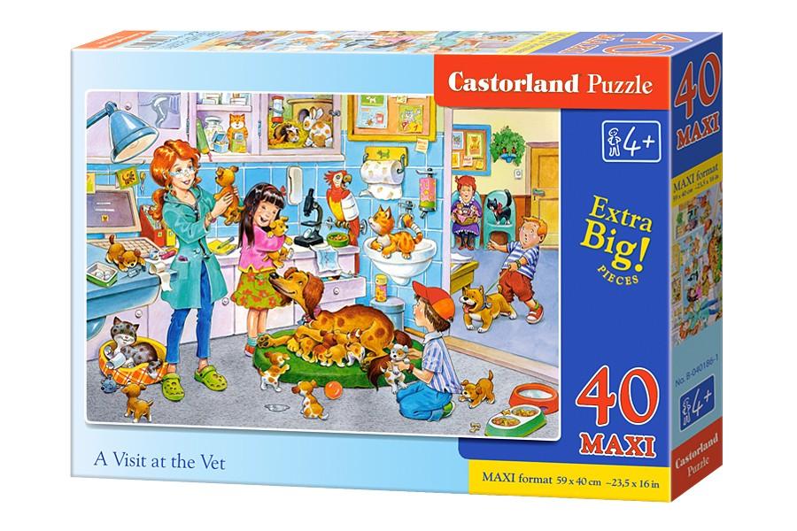 Castorland Puzzle 40 maxi - Veterinary visit (29441) puzle, puzzle