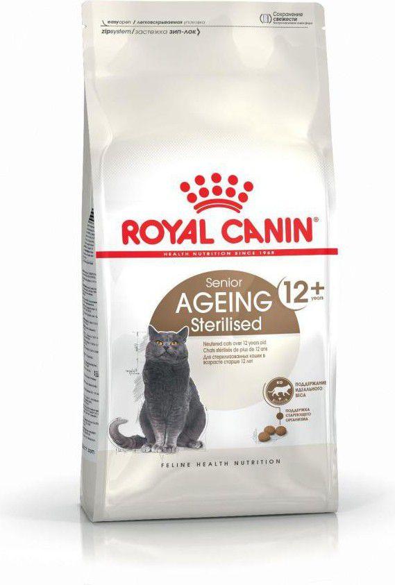 Royal Canin Ageing Sterilised 12+ 4 kg kaķu barība