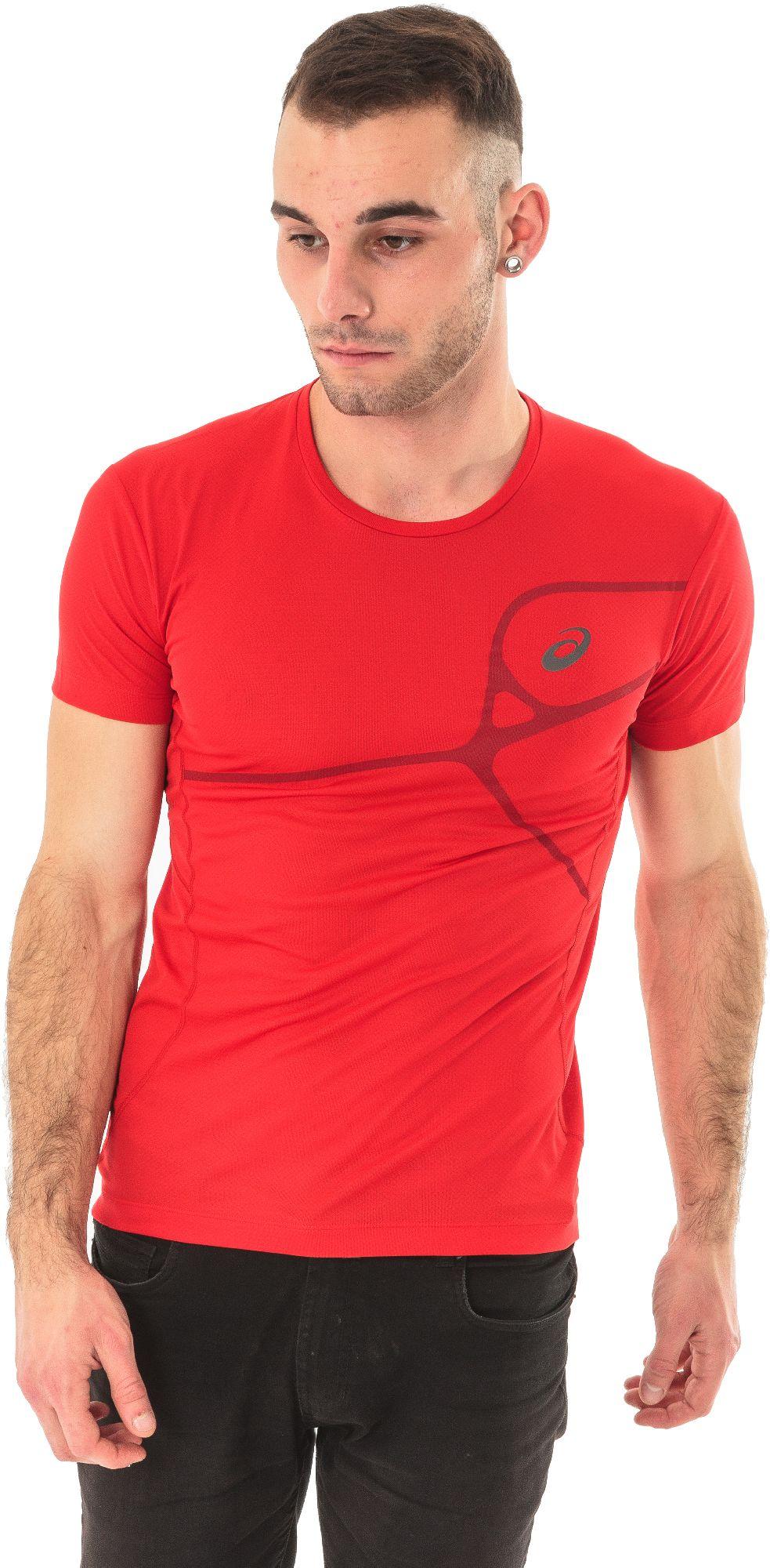 Asics Koszulka meska Protection Road Top czerwona r. L (1298636015) 1298636015