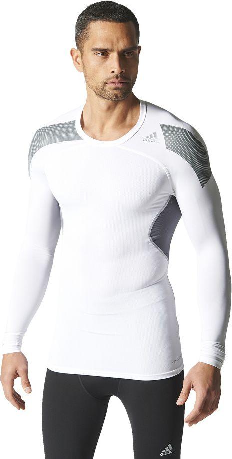 Adidas Koszulka meska Techfit Cool Long Sleeve Tee biala r. XS (S19451) S19451