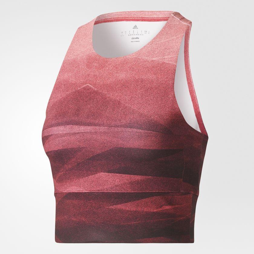 Adidas Koszulka damska Crop Graph MLG czerwona r. M (BQ5854) BQ5854