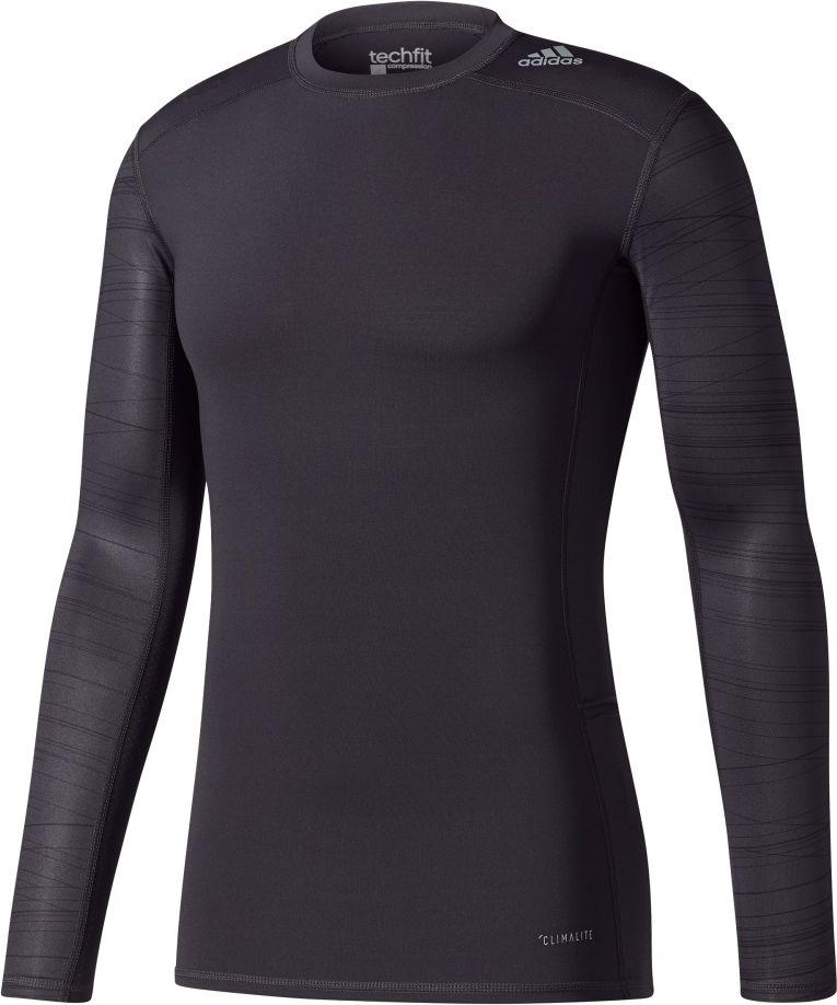 Adidas Koszulka meska TechFit TF Tee LS CL GX czarna r. S (CD3650) CD3650