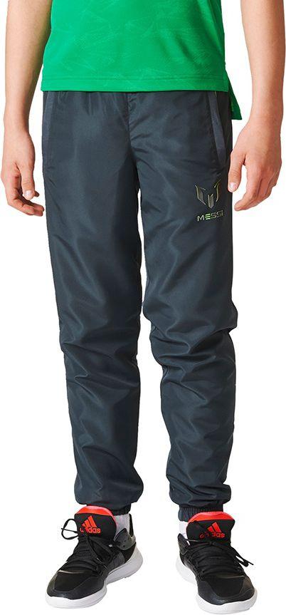 Adidas Spodnie dzieciece Messi Quarter Woven Pant Closed Hem  grafitowe r. 140 cm (AX6367) AX6367
