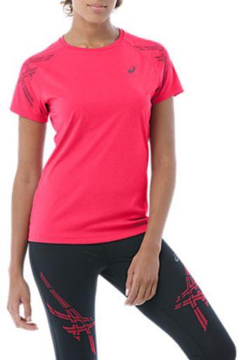 Asics Koszulka damska STRIPE SS TOP Cosmo Pink Heather r. XL 62301