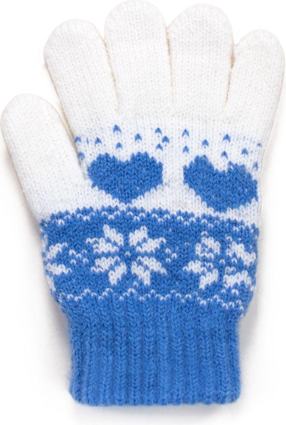 Art of Polo Rekawiczki dzieciece Zimowe wzorki niebieskie (rk17560) rk17560-1