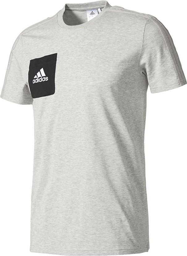 Adidas Koszulka meska Tiro 17 Tee szara r. XL (AY2964) AY2964