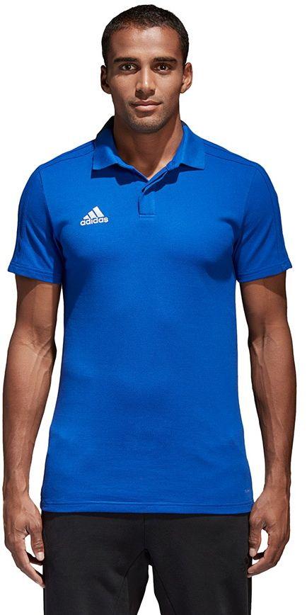 Adidas Koszulka meska Condivo 18 CO Polo niebieska r. S (CF4375) CF4375