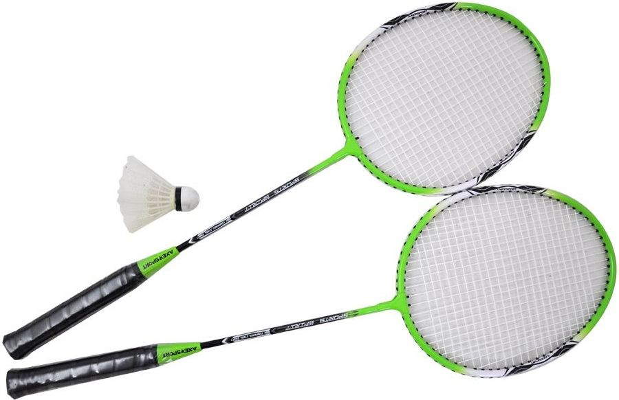 Axer Sport Zestaw do badmintona zielony (A1982) A1982 badmintona rakete