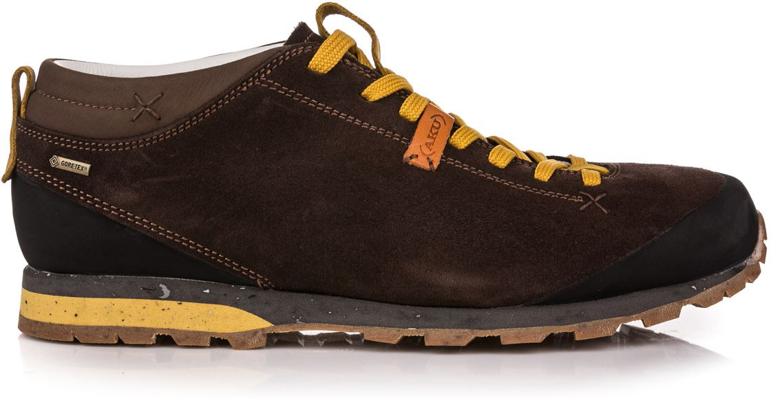 Aku Buty meskie Bellamont Suede GTX Dark Brown/Yellow r. 42 (504-305) 8032696586843 Tūrisma apavi