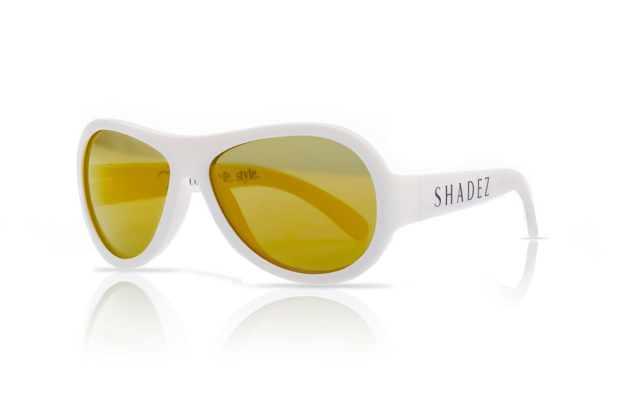 Akcija! SHADEZ Classic White Teeny bērnu saulesbrilles, 7-15 gadi SHZ 12 6563 saulesbrilles