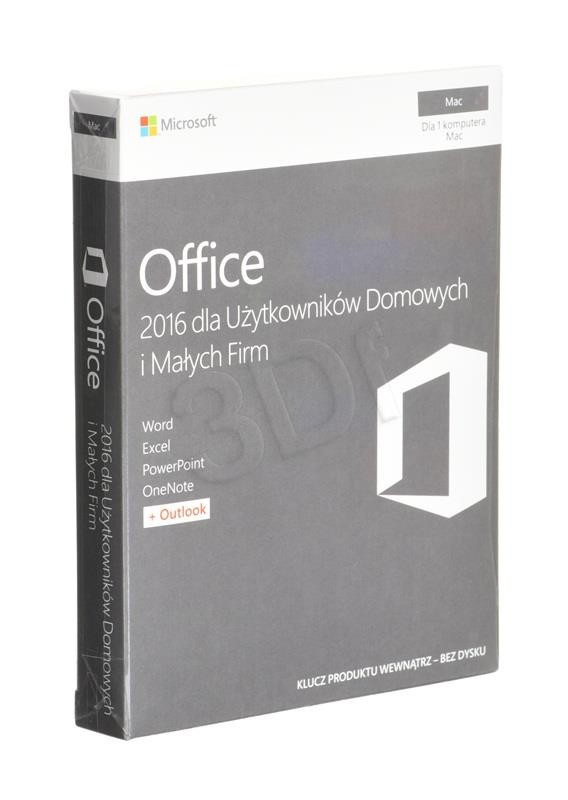 Office Mac H&B 2016 PL  32-bit/x64 P2  W6F-0085
