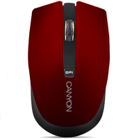 Canyon CNS-CMSW5R Bezvadu 2.4Ghz Optisk Pele ar 4 pog m 800/1280 dpi slēdzi Sarkana Datora pele