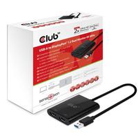 CLUB3D USB-A to Displayport 1.2 Dual 4K video karte