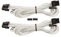 CORSAIR SLEEVED PCIe Cable TYPE4 WHITE kabelis datoram