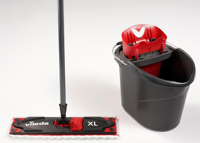 Mop Vileda Ultramax BOX XL SET: flat mop + bucket with a squeezer