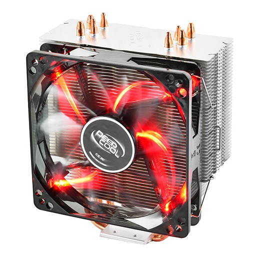 deepcool Gammaxx 400 RED, 4 heatpipes, Intel Socket LGA 2011/115x, 130 W TDP and AMD Socket FMx/AMx/AM4, 125W TDP universal, CPU Air Cooler procesora dzesētājs, ventilators