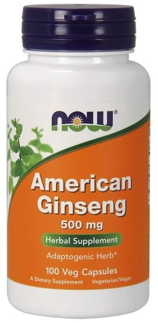NOW Foods American Ginseng 500mg 100 VCaps