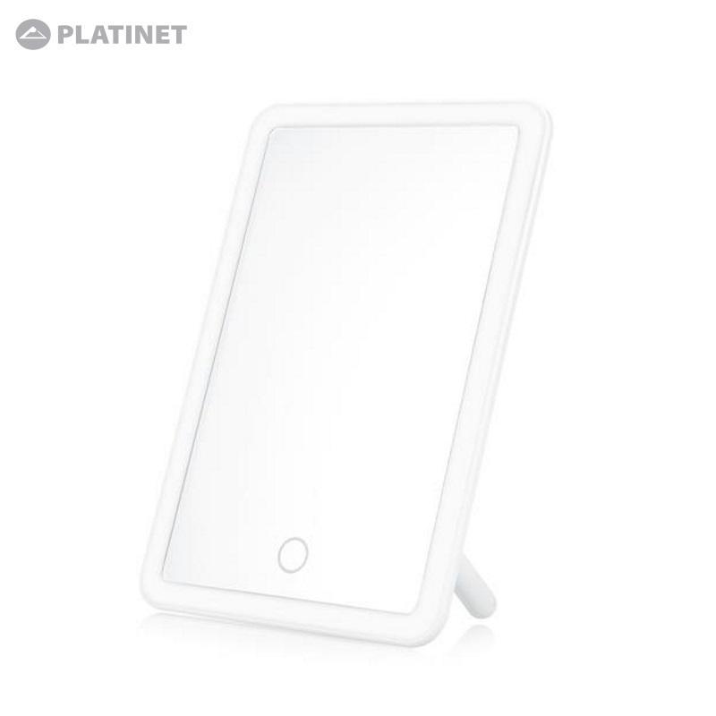 Platinet Moderns Spogulis ar LED 3W / Touch kontroli / Balta Spogulis