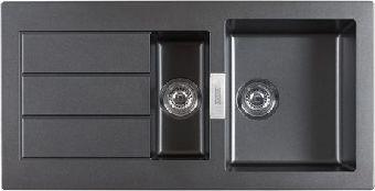 Franke Zlewozmywak 1,5-komorowy SID 651 z ociekaczem 100 x 51cm onyx (114.0181.979) SID651ONYX(114.0181.979) Izlietne