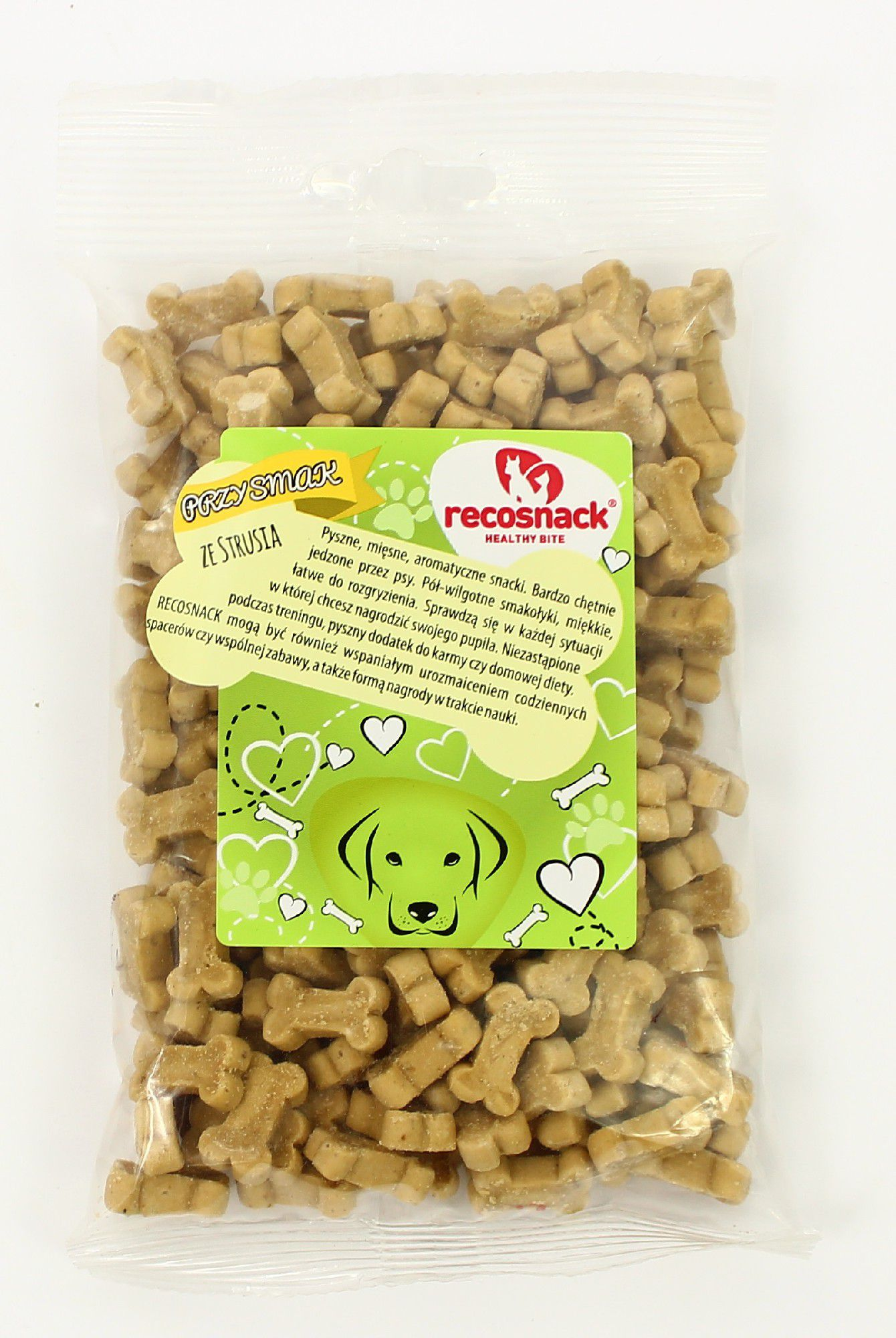 Recosnack ze strusia 100g RS 0010