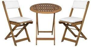 Fieldmann Zestaw ogrodowy  stol+2 krzesla+poduszki drewno akacja (FDZN 4003-T) FDZN 4003-T Dārza mēbeles