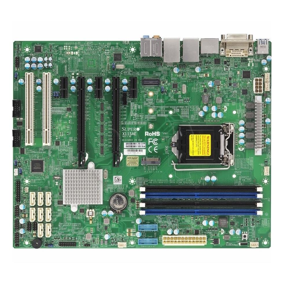 Server board Supermicro MBD-X11SAE-B ( LGA 1151 ; 4 DDR4 DIMM ; ATX ) MBD-X11SAE-B