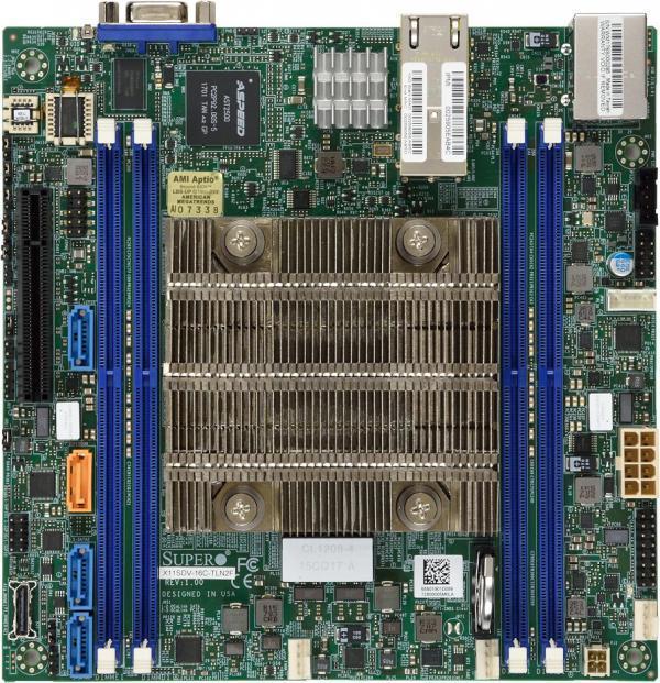 Plyta glowna Supermicro MBD-X11SDV-4C-TLN2F-O (BGA 2518; 4x DDR4 LRDIMM, DDR4 RDIMM; Mini ITX) MBD-X11SDV-4C-TLN2F-O