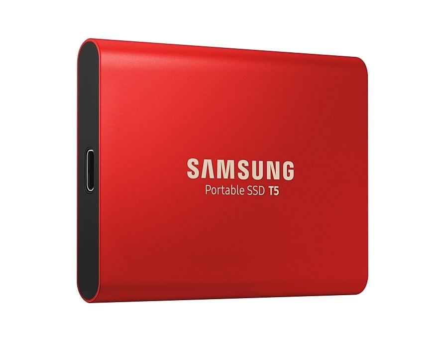 Samsung T5 500 GB, USB 3.1, Red, Portable SSD Ārējais cietais disks
