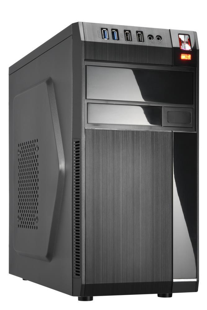 Case | GOLDEN TIGER | Baltimore 530 | MiniTower | MicroATX | Colour Black | BALTIMORE5302USB2 Datora korpuss