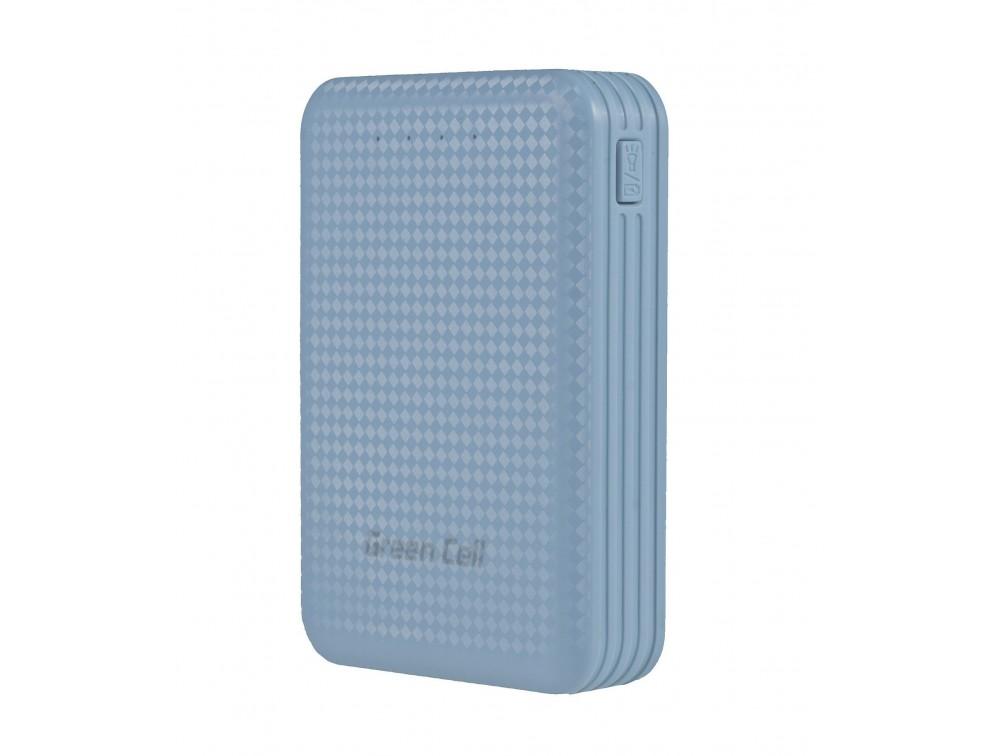 Green Cell Power Bank 8200 mAh Blue (1 x USB (5V/2.1A), 1 x USB (5V/1A)) Powerbank, mobilā uzlādes iekārta