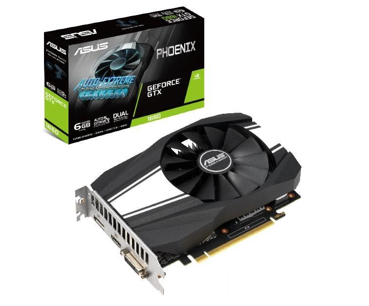 ASUS GeForce GTX 1660 Phoenix, 6GB GDDR5, HDMI, DVI, DP video karte