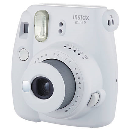 Fujifilm Instax Mini 9 camera Smokey White, 0.6m - ∞ INSTAX 9 SMOKY WHITE 2378 Digitālā kamera