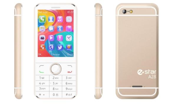 eSTAR A28 Dual SIM Gold Mobilais Telefons